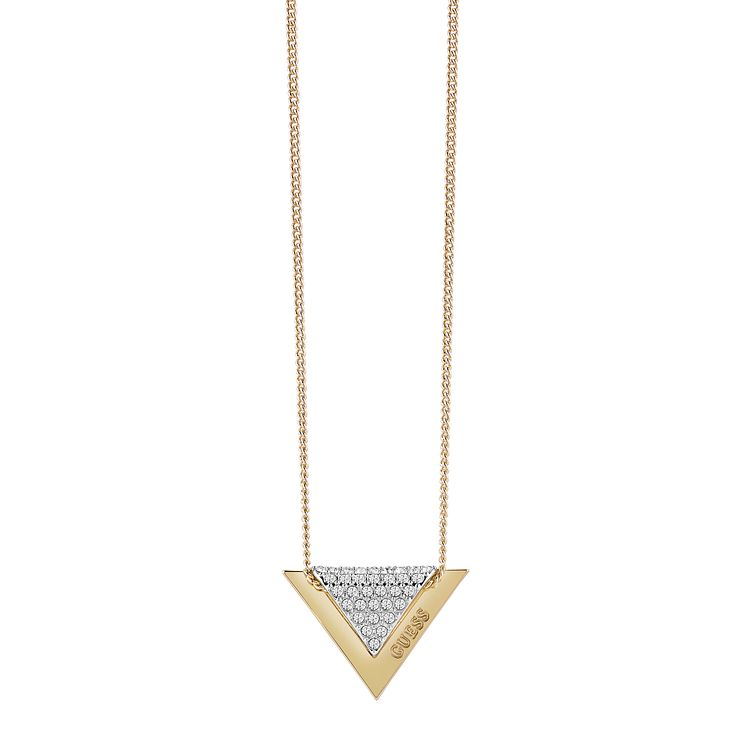 "Guess Gold-Plated 16-18"" Sparkle Folded Necklace - Product number 6220509"