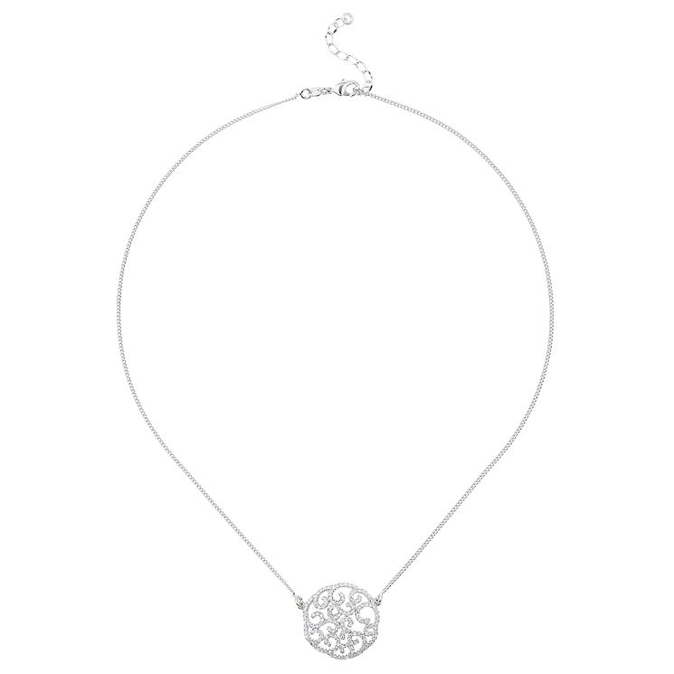 Mikey Silver Tone Cut Out Filigree Pendant - Product number 6220843