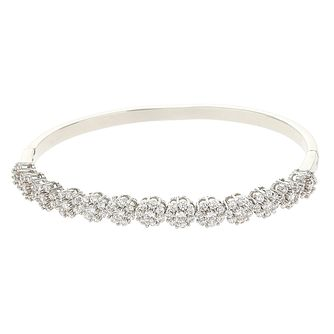 Mikey Silver Tone Crystal Flower Bangle - Product number 6221084
