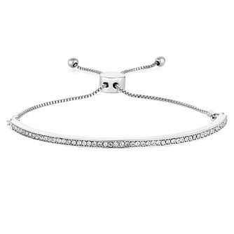 Buckley London Silver Tone & Cubic Zirconia Bracelet - Product number 6221203