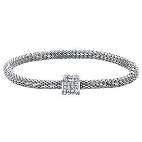 Buckley London Silver Tone & Cubic Zirconia Mesh Bracelet - Product number 6221211