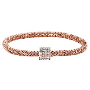 Buckley London Rose Gold Tone & Cubic Zirconia Mesh Bracelet - Product number 6221238
