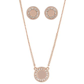 Buckley London Shoreditch Rose Gold Earring & Pendant Set - Product number 6221246