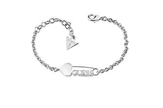Guess Rhodium Plated Heart and Pin Bracelet - Product number 6221289
