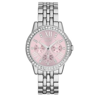 Relic Layla Ladies' Pink Dial Stainless Steel Bracelet Watch - Product number 6222056