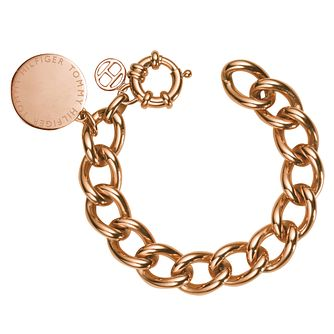 Tommy Hilfiger Rose Gold Plated Medallion Link Bracelet - Product number 6222781