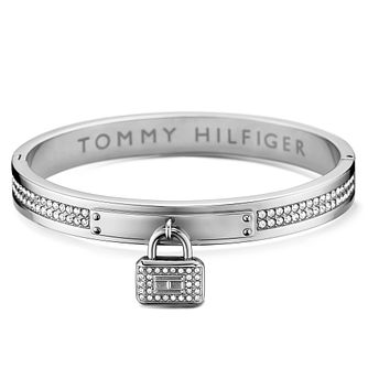 Tommy Hilfiger Stainless Steel Pave Bangle & Lock - Product number 6222889