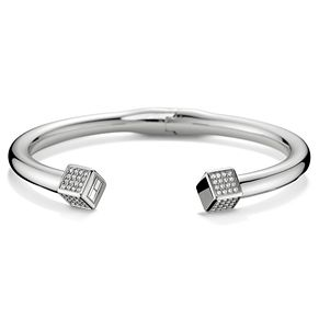 Tommy Hilfiger Stainless Steel Hinged Crystal Cuff Bracelet - Product number 6222919