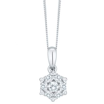 9ct White Gold 0.15ct Diamond Perfect Fit Pendant - Product number 6224067