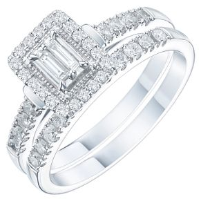 Platinum 1/2ct Diamond Perfect Fit Bridal Set - Product number 6228240