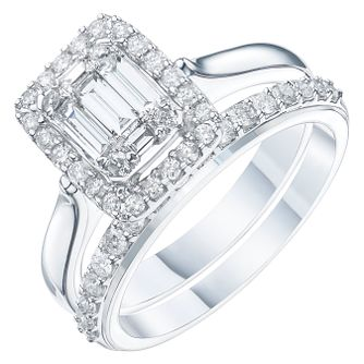 9ct White Gold 3/4ct Diamond Perfect Fit Bridal Set - Product number 6229212