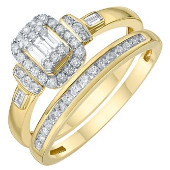 18ct Yellow Gold 1/3ct Diamond Perfect Fit Bridal Set - Product number 6230466