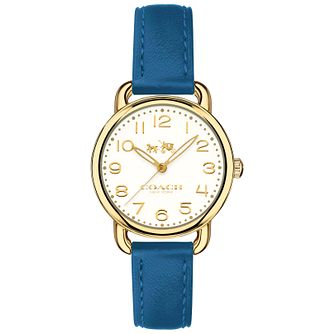 Coach Delancy Ladies' Gold Plated Strap Watch - Product number 6231195