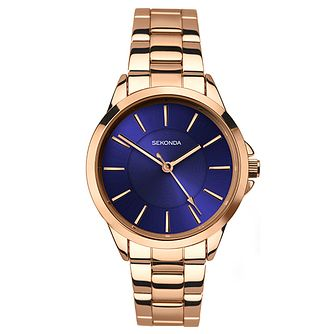 Sekonda Editions Ladies' Rose Gold Plated Bracelet Watch - Product number 6231411