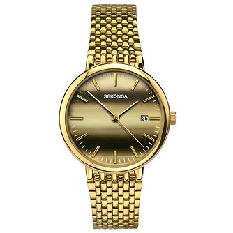Sekonda Men's Gold Plated Bracelet Watch - Product number 6231500