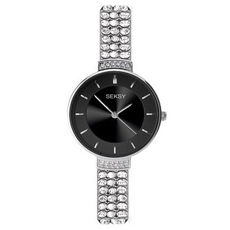 Seksy Ladies' Stone Set Stainless Steel Bracelet Watch - Product number 6231543