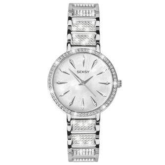 Seksy Ladies' Stone Set Stainless Steel Bracelet Watch - Product number 6231551