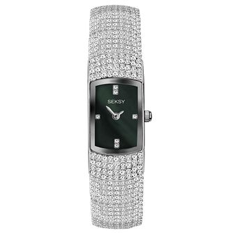 Seksy Ladies' Stone Set Stainless Steel Bracelet Watch - Product number 6231578