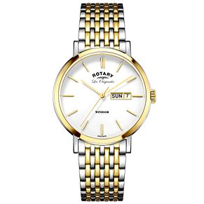 Rotary Les Originales Windsor 2 Colour Steel Bracelet Watch - Product number 6231608