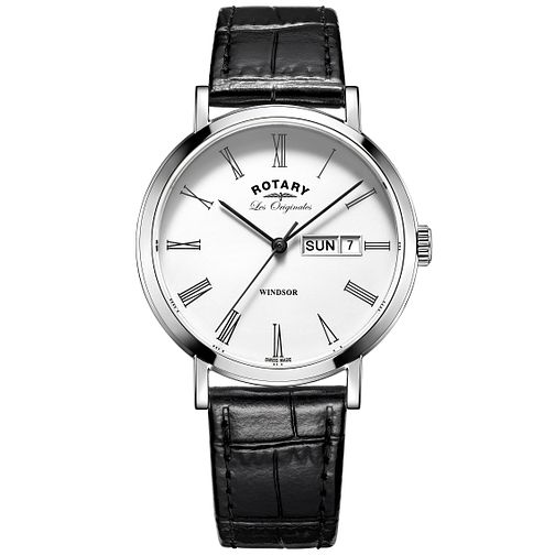 Rotary Les Originales Windsor Black Leather Strap Watch - Product number 6232248