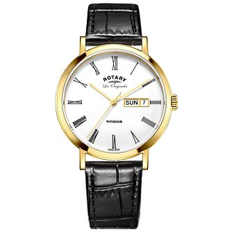 Rotary Les Originales Windsor Black Leather Strap Watch - Product number 6232256