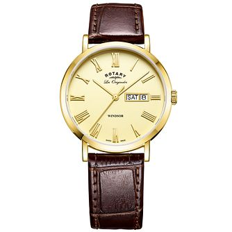 Rotary Les Originales Men's Brown Leather Strap Watch - Product number 6232264