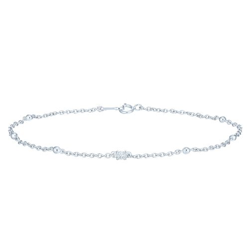 9ct White Gold Diamond Fancy Bracelet - Product number 6232868