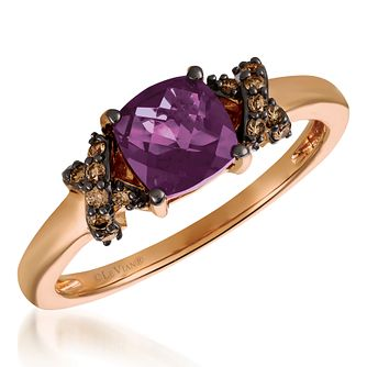 14ct Strawberry Gold Diamond & Grape Amethyst Ring - Product number 6236480