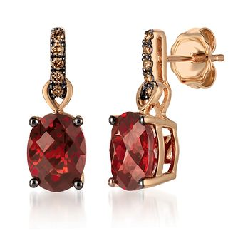 14ct Strawberry Gold Pomegranate Garnet Earrings - Product number 6236758