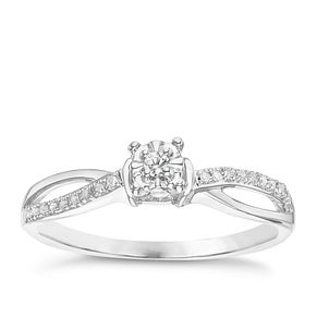 9ct White Gold Diamond Solitaire Ring - Product number 6236901