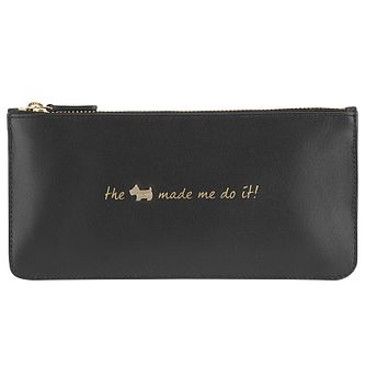 Radley Large Zip Black Leather Pouch - Product number 6237266