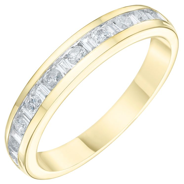 9ct Yellow Gold 1/3ct Diamond Eternity Ring - Product number 6240062