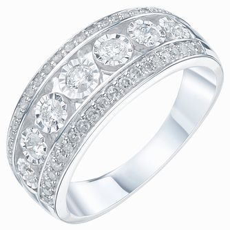 9ct White Gold 1/5ct Diamond Eternity Ring - Product number 6240259