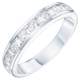9ct White Gold 1/5ct Diamond Eternity Ring - Product number 6240380