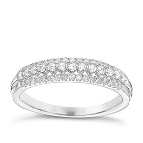 9ct White Gold 1/4ct Diamond Eternity Ring - Product number 6240569