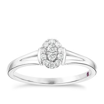 Cherised Argentium Silver Diamond Ring - Product number 6241174