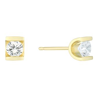 9ct Yellow Gold 2/5 Carat Diamond Stud Earrings - Product number 6241964