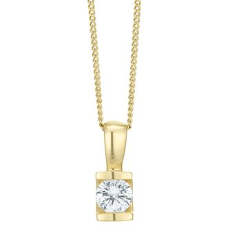 9ct Gold 0.30 Carat Diamond Bar Set Pendant - Product number 6242162