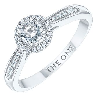 The One 9ct White Gold 1/3ct Diamond Ring - Product number 6243657