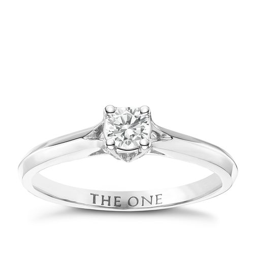 The One 9ct White Gold 1/4ct Diamond Ring - Product number 6244335