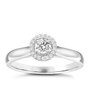 The One 9ct White Gold 1/4ct Diamond Ring - Product number 6244734