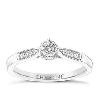 The One 9ct White Gold 1/4ct Diamond Ring - Product number 6244882
