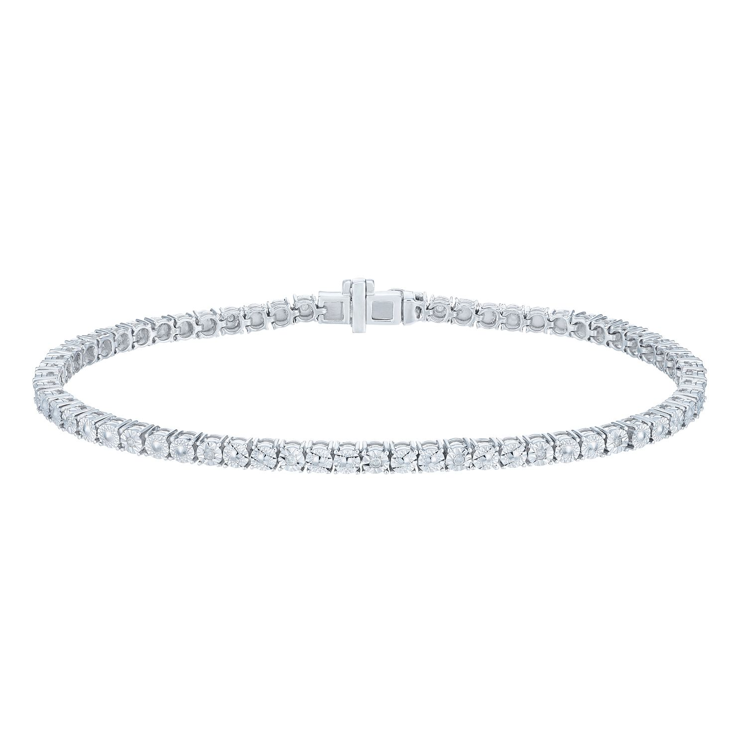 tennis white gold black diamond j collection product bracelet