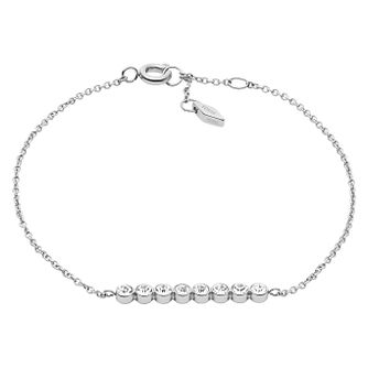 Fossil Glitz Stainless Steel Crystal Set Chain Bracelet - Product number 6245862