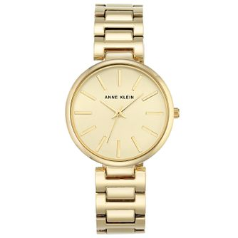 Anne Klein Ladies' Gold Tone Dial Gold-Plated Bracelet Watch - Product number 6246141