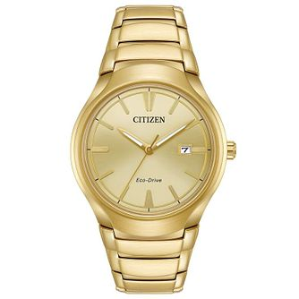 Citizen Eco-Drive Men's Gold Tone Steel Bracelet Watch - Product number 6246966