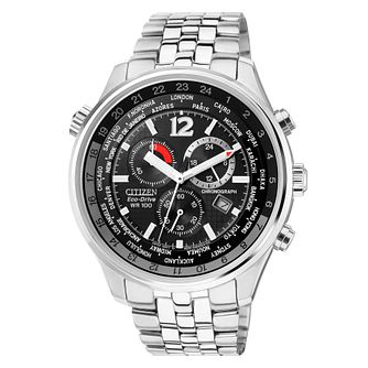 Citizen Men's Stainless Steel Black Dial Bracelet Watch - Product number 6246974