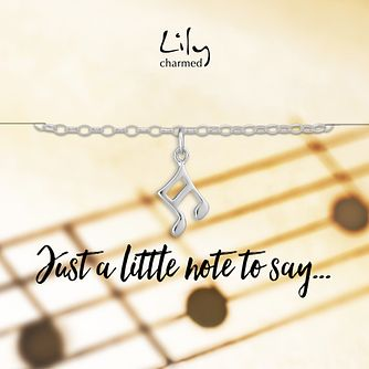 Lily Charmed Silver Musical Note Bracelet - Product number 6250939