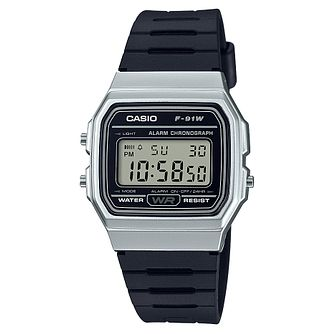 Casio Men's Black Resin Strap Silver Case Digital Watch - Product number 6251013