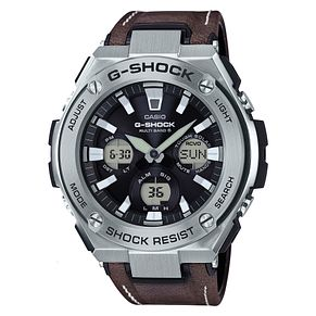 Casio G-Shock G-Steel Men's Brown Leather Strap Watch - Product number 6251099